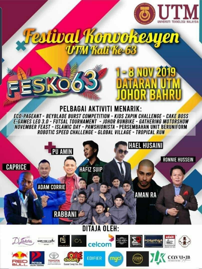 UTM's 63rd Convocation Festival (FESKO) 2019 @ Dataran UTMJB
