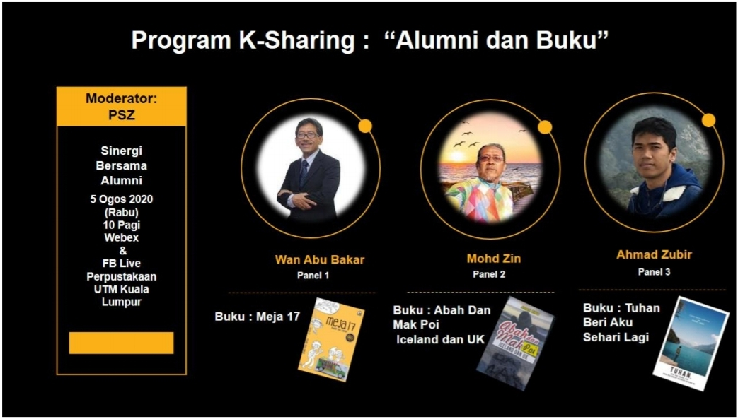"""K-Sharing Programme: """"Alumni and Book"""" @ FB LIVE STREAMING"""