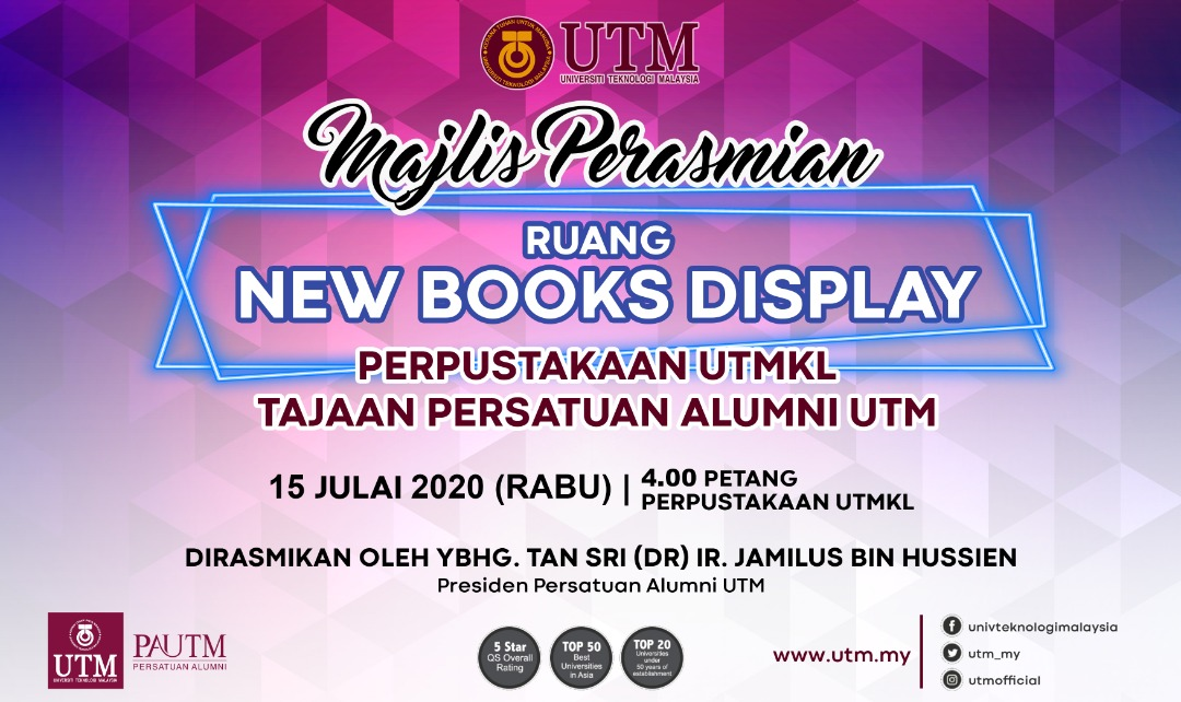 Ceremony Presentation: New Books Display Space at UTMKL Library Sponsored by PAUTM @ UTMKL Library