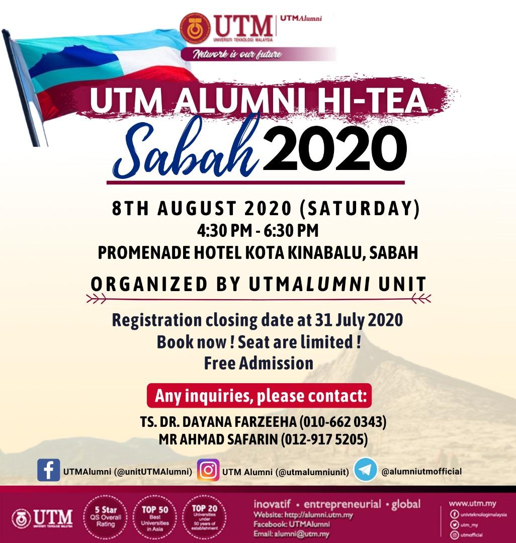 UTM Alumni Hi-Tea Sabah 2020 @ Promenade Hotel Kota Kinabalu, Sabah